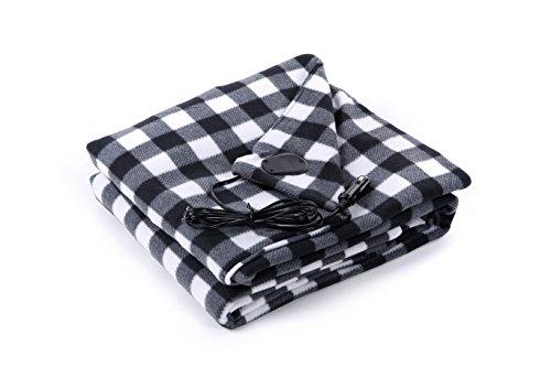 Lorient Home 402-CB-B 12V Heated Blanket, Black