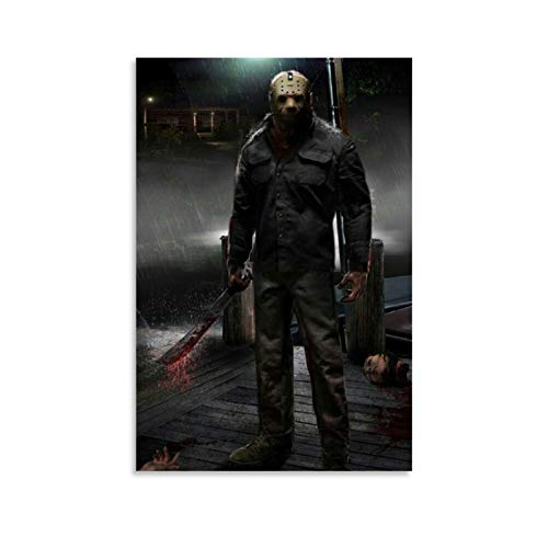 American Horror Film Friday The 13th The Final Chapter Jason Voorhees 2 Poster Decorative Painting Canvas Wall Art Living Room Posters Bedroom Painting 12x18inch(30x45cm)