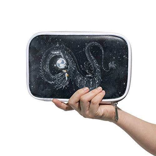 Galaxy Dragon Pearl - Estuche para lápices con cremallera, gran capacidad