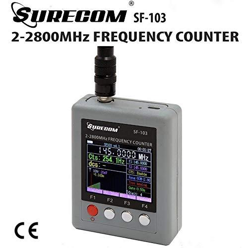SuRecomendación SF-103 2Gen - Contador de frecuencia portátil para medidor de frecuencia de 2 MHz ~ 2,8 GHz