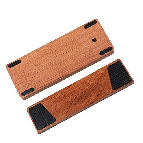 GH60 Handballenauflage aus massivem Holz, für 60 % mechanische Mini-Gaming-Tastatur, kompatibel mit Poker2 Pok3r Faceu 60 (gelbes Rosenholz)