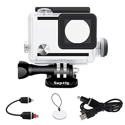 Suptig Wasserdichtes Gehäuse für GoPro Hero 4, Hero 3+, Hero3, Outdoor-Sport-Kamera für Unterwasser-Aufladung, wasserdicht bis 40 m.