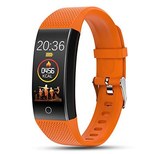 YDZ QW18T Smart Brazalet Band Thermometer Termómetro IP68 Impermeable Tasa De Corazón Fitness Tracker Pulsera Reloj Deportes Smartband Men's Women para iOS/Android,D