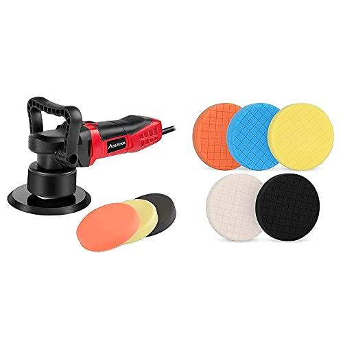 Dual Action Polisher Kit Bundle with 5PCS Buffing Pads