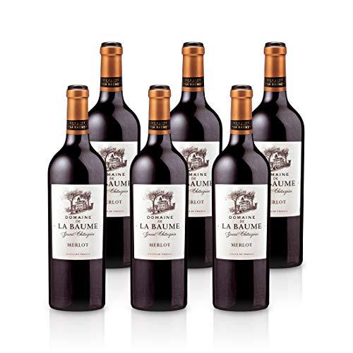 2018 - Domaine de la Baume - Grand Chataignier - Merlot - Rotwein IGP Vin de Pays d'Oc (6x 0,75l)