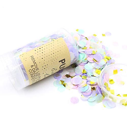 Confetti Gold Silver Table Confetti Lámina metálica Push-Pop Confetti para bodas Despedida de soltera Ducha Fiesta Decoración (#2)