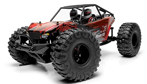 Exceed RC Rock Racer Radio Car 1/10 Scale 2.4Ghz Max Rock 4WD Powerful Electric Remote Control 100% RTR Ready to Run w/ Waterproof Electronics (Red)