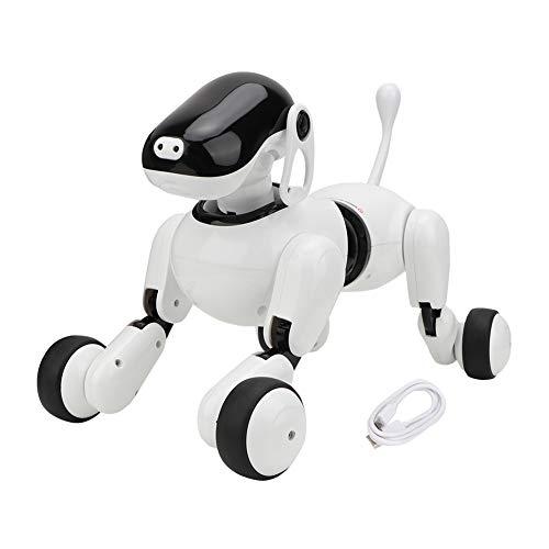 Zwindy Juguete para Perro Robot, Perro Robot eléctrico Inteligente con reconocimiento de Voz y Movimiento Realista, Cachorro robótico con Luces LED, para niños y niñas