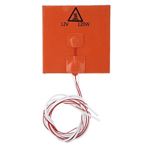 Socobeta Värmedyna med hög temperatur 3D-skrivare tillbehör silikon varmuppvärmd säng värmepanna (12 V 120 w-1)