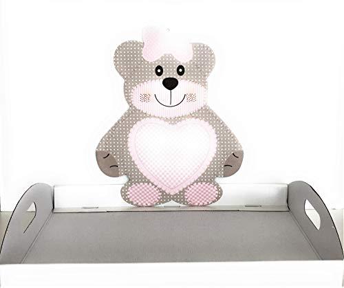 Vinciprova Le Gemme di Venezia Cesto Vassoio Teddy b Compleanno Battesimo Base cm44x29 Alta 5 Elegante Made in Italy