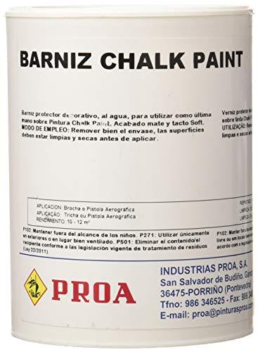Proa BX000H Barniz Pinture Tiza, Transparente, 750 ml