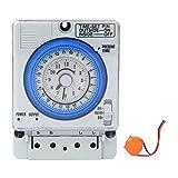Interruttori orari manuali/automatici TB-388 Interruttore temporizzatore Relè meccanico Timer, 24 ore programmabili per apparecchiature elettriche per luci fai-da-te