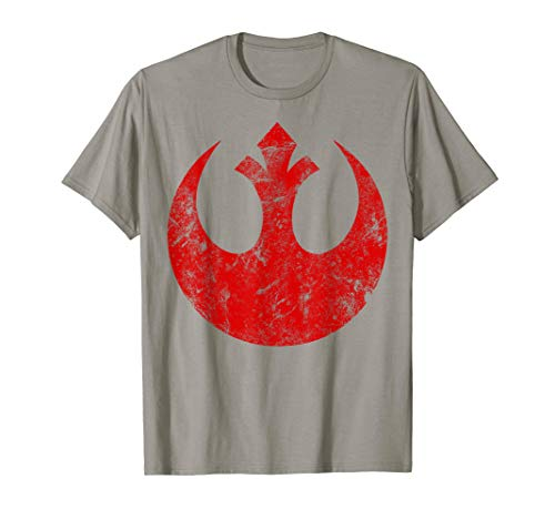 Star Wars Big Red Rebel Distressed Logo Graphic T-Shirt C1