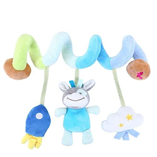AMZYY Actividad en Espiral para Bebés, Juguetes Colgantes, Cuna de Juguete, Colgante, Diseño Colorido, Actividad en Espiral, Juguete de Felpa Ideal para Viajes, Niños y Niñas,C