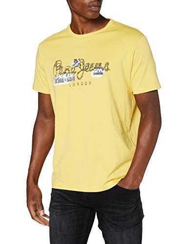 Pepe Jeans Salomon Camiseta, Oro (Vintage Gold 082), Large para Hombre