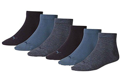 6 Paar PUMA Sneakersocken, Sportlifestyle im Vorteilspack + sehr schneller Versand durch Amazon (43/46, Denim Blue (460))