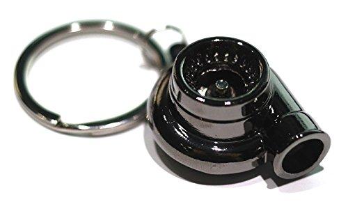 Gunmetal Spinning Turbo Keychain Automotive Part Car Gift Key Chain Ring