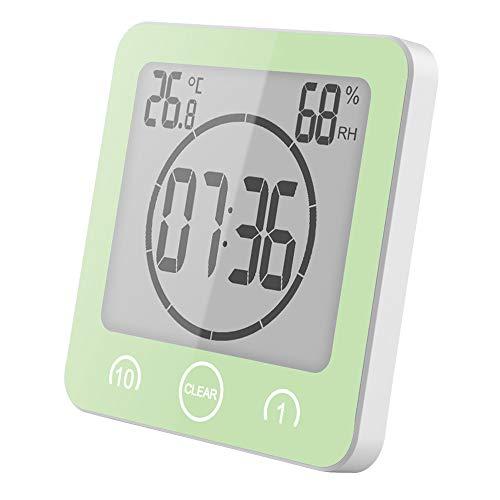 FORNORM Shower Clock Dusche Uhr Wasserdicht (Grün)