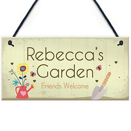 RED OCEAN Personalised Garden Signs And Plaques Any Name Summer House Garden Shed Sign Nan Grandma Mum Gift