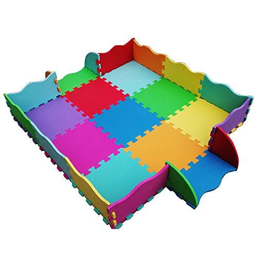 Tappeto Gioco Bambini in Soffice Schiuma Eva   Tappeto Puzzle da Gioco Multicolore   Tappetino Puzzle Antiscivolo   25 Pezzi