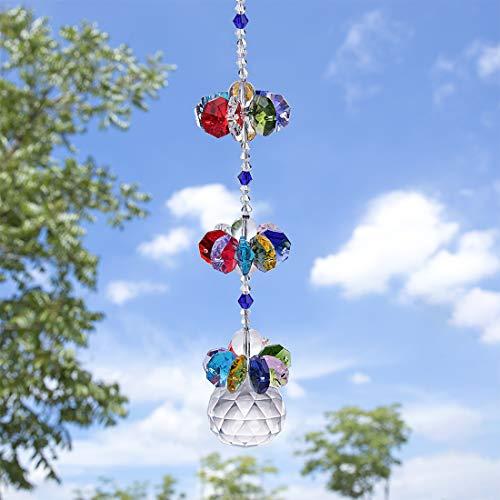 H&D Kristall bunt Fengshui Sonnenfänger Anhänger Regenbogenmacher hängend Ball Prisma