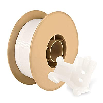 White PETG 3D Printer Filament 1.75 mm 1kg Spool (2.2lbs) Perfectly Coiled in Ecofriendly Straw Based Spool by RepRapper