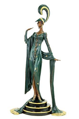 Art Deco Bronze Tänzerin von Ferdinand Preiss - Französische Revuetänzerin - Bronzestatue - Zwanziger Jahre Skulptur - Höhe: 43 cm - 100% Bronze - Vintage - Dekofigur - Kunst online kaufen