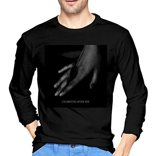 KJJO Cigarettes After Sex Cool Men's Cotton Long Sleeve T-Shirts Black Medium Gifts