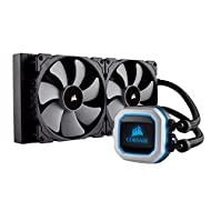 Corsair Hydro Series H115i PRO RGB AIO Liquid CPU Cooler, 280mm Radiator, Dual 140mm ML Series PWM Fans, Advanced RGB Lighting and Fan Software Control, Intel 115x/2066 and AMD AM4 compatible, Model Number: CW-9060032-WW