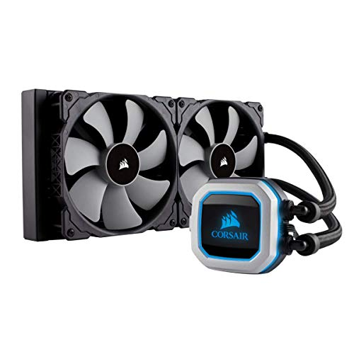 CORSAIR HYDRO Series H115i PRO RGB AIO Liquid CPU Cooler,280mm, Dual ML140 PWM Fans, Intel...