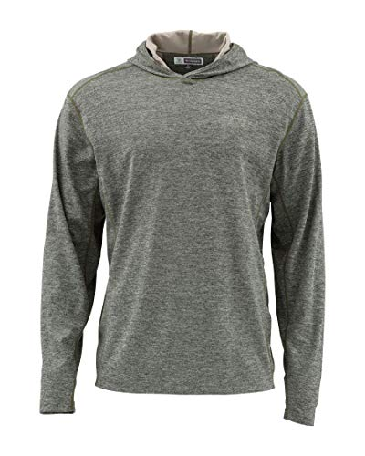 Simms Bugstopper 50+ UPF Hoody Shirt, Bug Repellent Hoodie Top, Foliage M