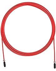 Ersättningskabel för Crossfit hopprep, fitness och boxning PVC gul och 2,5 mm stål | kompatibel med andra märken. Röd kabelträning 2,5 mm velites, kabelkombination 2,5 mm Rojo, enhetsstorlek