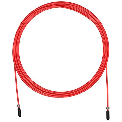 Corda per saltare Cavo di ricambio per Crossfit, Fitness e Boxe di VELITES | PVC rosso, acciaio diametro 2,5 mm | Per principianti | Compatibile con altre marche.