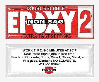 100 Pcs shipfree of Double Bubble Red 3-5 Gel Time sale Min-#04008 Non-Sag Epoxy2