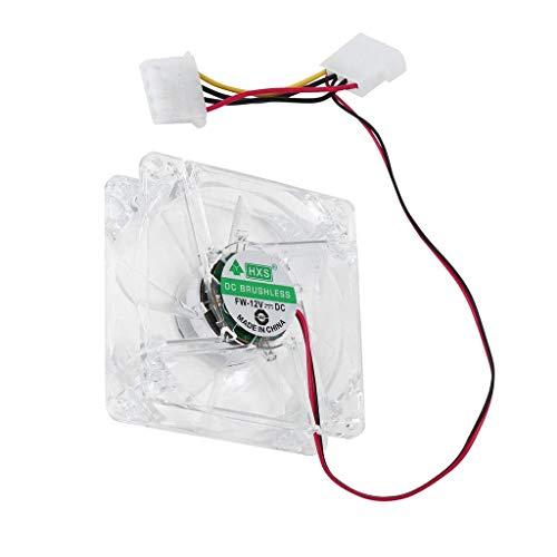 balikha Unidad de Ventilador de Carcasa de Ventilador de Ordenador PC Ventilador 8025 8 Cm con Luces LED - Multicolor