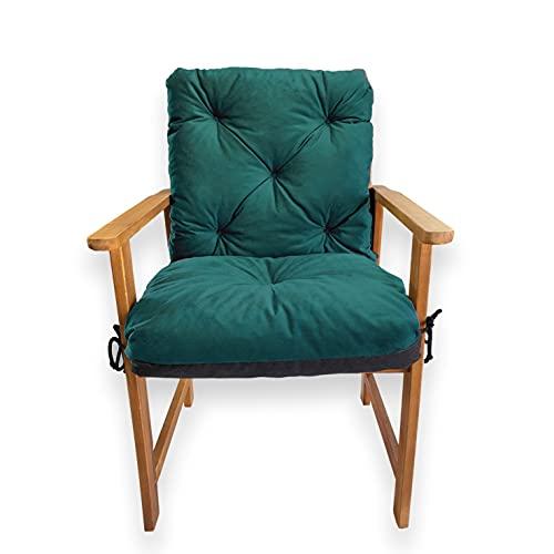 4L Textil Coussin de banc de jardin pour balancelle - Coussin d'assise et de dossier - Facile d'entretien - 50 x 50 x 50 cm - Bleu pétrole