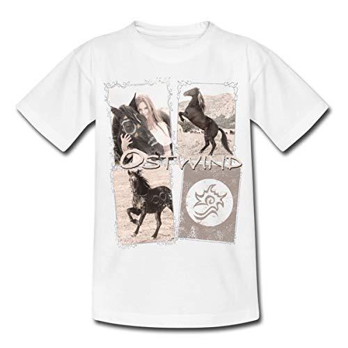OSTWIND Aufbruch Nach Ora Collage Teenager T-Shirt, 134/146 (9-11 Jahre), Weiß