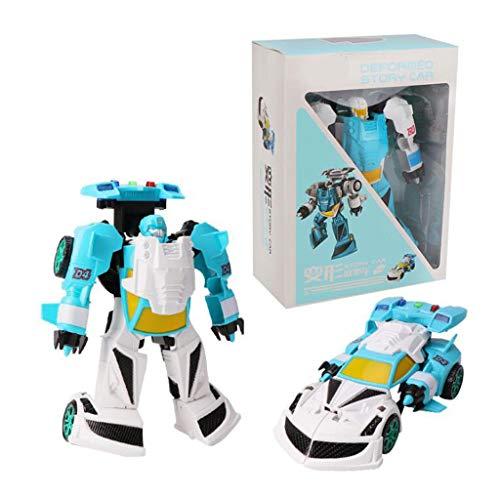 Siyushop Jouet Transformers, Heroes Rescue Bots, Modèle De Robot, Robots Jouets Set for Les Enfants Cadeaux, 2-7 Ans Enfant ( Color : Light Blue )