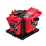 Multifunction Electric Knife Sharpener Drill Scissor Grinder Tool,Household Electric Cutter Scissor Sharpener Sharpening Tool(Us Plug 110v) (Red-US Plug)