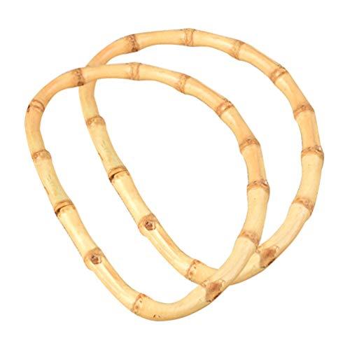EXCEART 2 Pcs Bambou Sac Poignées Sac à Main Poignées Remplacement de Poignée de Sac à Main pour Sac à Main Artisanal Bricolage Sacs Fournitures