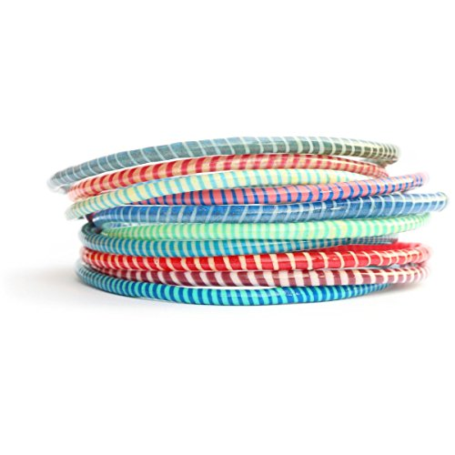10 Assorted Color Recycled Flip Flop Bracelets Hand Made in Mali, West Africa