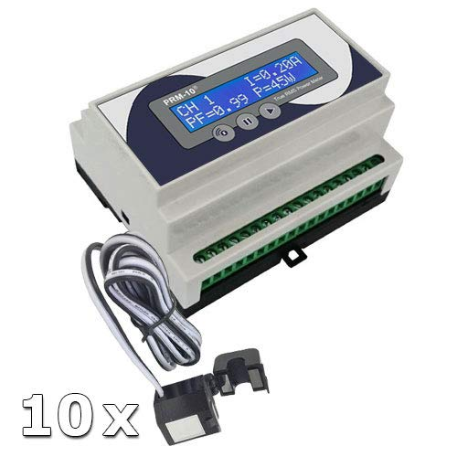 Haseman PRM-10 - Z-Wave, DIN Rail, 10 lampen, True RMS Power/Energy meter