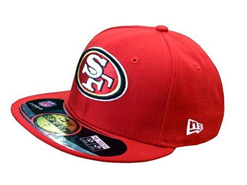 New Era Erwachsene Baseball Cap Mütze NFL On Field San Francisco 59 Fifty Fitted, Red/White, 67/8