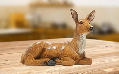 XTAPAN 13' Resin Sika Deer Doe Statues Figurine Sculpture Lawn Ornaments Animals Yard Art Garden Statues and Figurines Outdoors Decorations for Home Office Decor Housewarming Birthday Gift