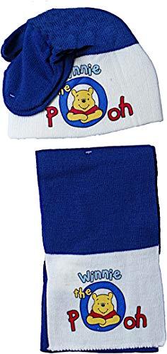 Disney Winnie The Pooh Baby Winterset - Winnie The Pooh - 3Teilig - Handschuhe/Mütze/Schal - Blau/Beige/Mehrfarbig