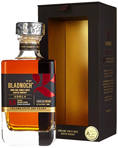 Bladnoch ADELA 15 Years Old Lowland Single Malt Scotch Whisky mit Geschenkverpackung (1 x 0.7 l)