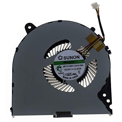 Rangale CPU Cooling Fan Replacement for Lenovo Y700 Y700-15ISK Y700-15ACZ Series Laptop 5F10K25525 DC28000CRF0