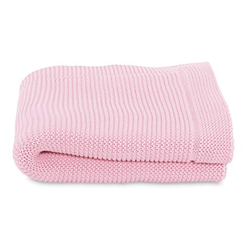 Chicco Couverture Tricot en Maille 1 % Coton Miss Pink