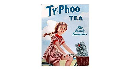 FemiaD TyPhoo - Placa de Metal para Pared con Texto en inglés Tea The Family Favourite Vintage, 20,3 x 30,5 cm