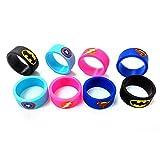 Caringa – 1 anillo de silicona azul protector 18,5 x 10 mm – Superman – Superhéroe cigarrillo electrónico protección atomizador